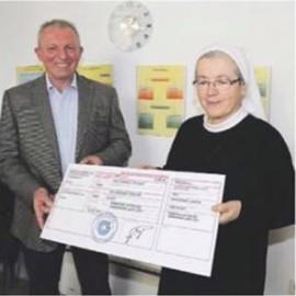 Izvršena primopredaja sredstava prikupljenih na Maškaranoj joti Caritasovom domu za žene i djecu Sv. Ana