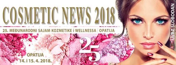 25. međunarodni sajam kozmetike i wellnessa Cosmetic News – 14. i 15. 4. 2018. – Opatija