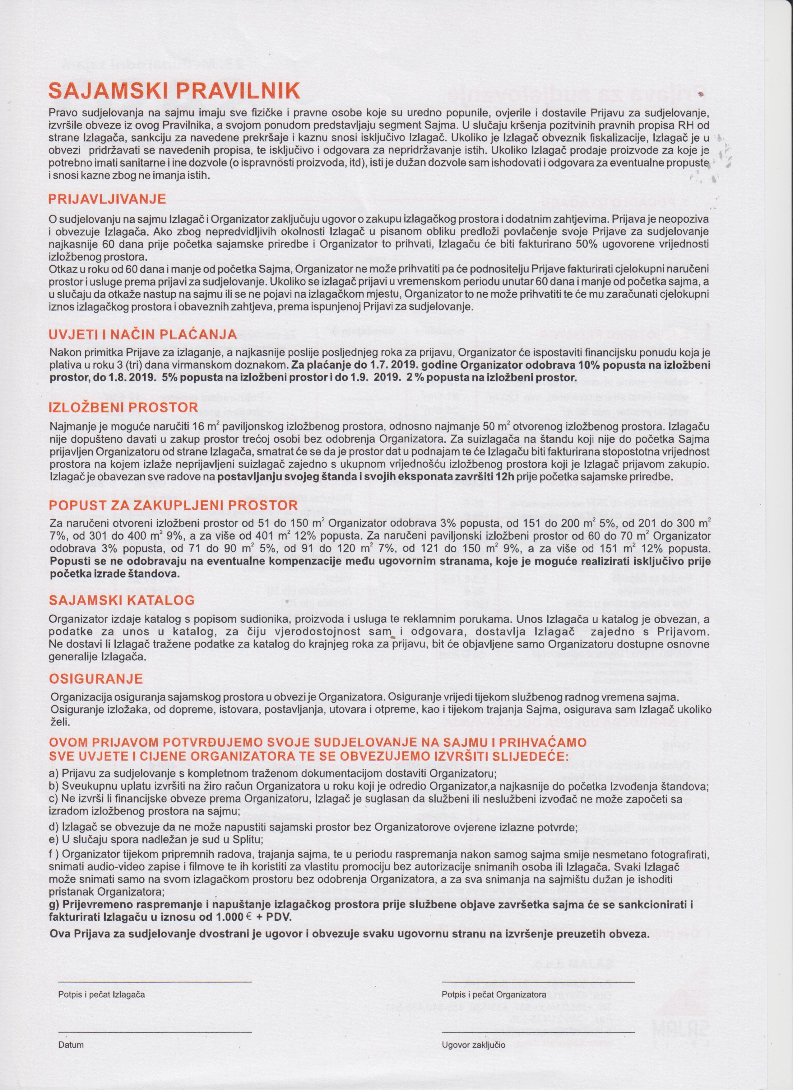 Prijava za sudjelovanje str.2