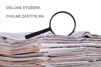 Stožer civilne zaštite Republike Hrvatske danas je donio dvije nove Odluke:
