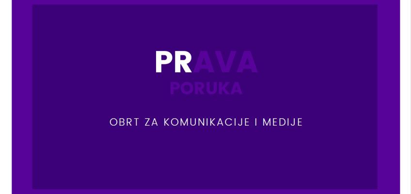 """Novi partner u projektu """"Zajednička nabava"""" – PRAVA PORUKA, obrt za komunikacije i medije"""
