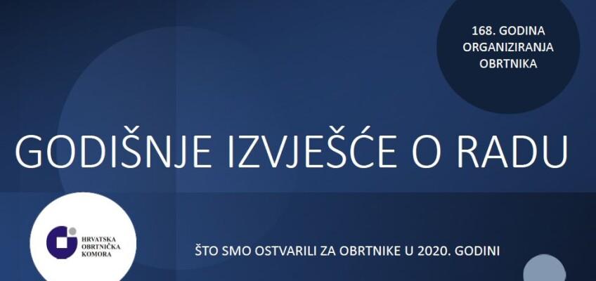 Prezentacija Izvješća o radu Hrvatske obrtničke komore za 2020. godinu