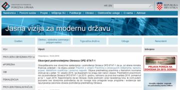 Rok za podnošenje obrasca OPZ-STAT-1 pomaknut na 1. rujna